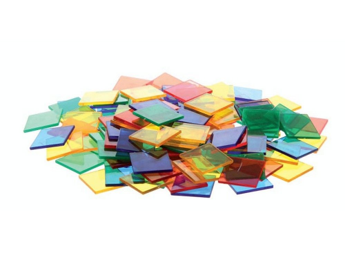 Translucent Colour Squares 300pk